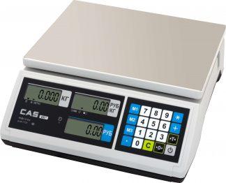 Весы торговые CAS ER JR-CB с экраном и панелью управления